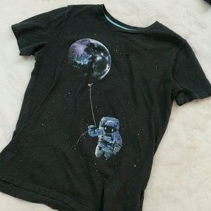 Outer Space t-shirt astronauts aliens the Moon